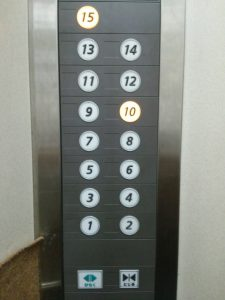 エレベーター ボタン