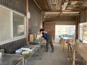作業場のお掃除