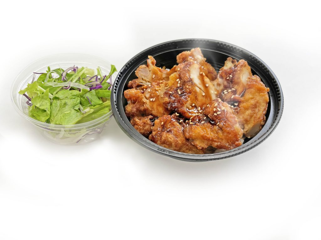 とりでい 唐揚げ丼(ミニサラダ付)